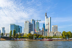 Ludzie świętują 25th rocznicę Niemiecka jedność w Frankfurt Obrazy Royalty Free