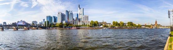 Ludzie świętują 25th rocznicę Niemiecka jedność w Frankfurt Fotografia Royalty Free