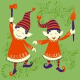 Ludzie świętuje festiwali/lów Wesoło bożych narodzeń wakacje tło ilustracja wektor