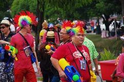 Ludzie świętuje na ulicie zdjęcia royalty free