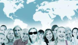 ludzie światowi Obraz Royalty Free