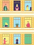 Ludzie aktywno?ci w mieszkaniu royalty ilustracja