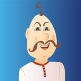Ludzie avatar cossack z grzywką, wąsy Zdjęcie Stock