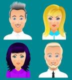 Ludzie avatar kolekci Ustawiają 5 Zdjęcie Stock
