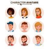 Ludzie Avatars kolekci wektoru Braków charakterów Avatar Placeholder Kreskówka, Komicznego sztuki mieszkania Odosobniona ilustrac ilustracji