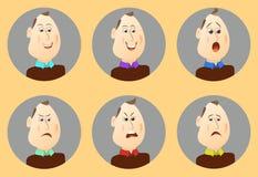 Ludzie avatars kreskówki emocj Zdjęcie Stock