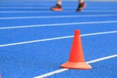 Ludzie biega w stadium Zdjęcia Stock
