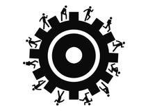 Ludzie biega wokoło przekładni Zdjęcie Stock