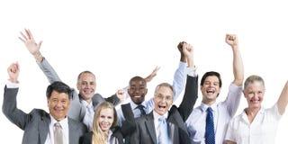 Ludzie Biznesu świętowania szczęścia Uśmiechniętego pojęcia Fotografia Stock
