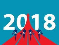 Ludzie biznesu biega 2018 Pojęcie biznesowego sukcesu wektor Obraz Royalty Free