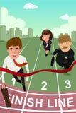 Ludzie biznesu biega w rywalizaci Fotografia Royalty Free