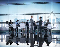 Ludzie Biznesu Brainstorming partnerstwo pracy zespołowej poparcie Conce Obrazy Stock