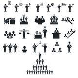 Ludzie biznesu czerń kija postaci ilustracji