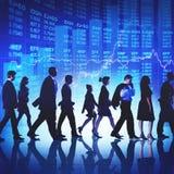 Ludzie Biznesu dojeżdżającego odprowadzenia finanse rynku papierów wartościowych pojęcia Obrazy Stock