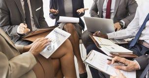 Ludzie Biznesu dyskusja Marketingowego planu spotkania pojęcia obrazy royalty free