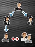 Ludzie biznesu Etykietek majchery/ Fotografia Royalty Free