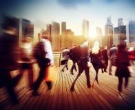 Ludzie Biznesu godziny szczytu odprowadzenia Dojeżdżać do pracy miasta pojęcie Obraz Stock