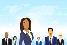 Ludzie Biznesu Grupują lidera Różnorodnego Drużynowego wektor Zdjęcia Royalty Free
