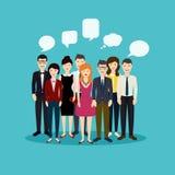 Ludzie biznesu i biznesowa praca zespołowa Ogólnospołeczna sieć i socjalny royalty ilustracja