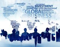Ludzie Biznesu i Globalnego biznesu pojęcia Zdjęcie Royalty Free