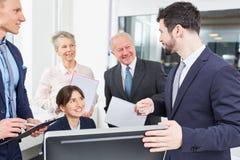 Ludzie biznesu i konsultant w spotkaniu fotografia royalty free
