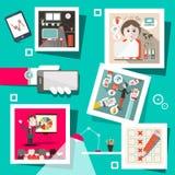 Ludzie biznesu infographics ilustracja wektor