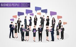 Ludzie biznesu interakcja współpracy komunikaci royalty ilustracja