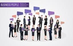 Ludzie biznesu interakcja współpracy komunikaci Obrazy Royalty Free