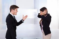 Ludzie biznesu kłócić się Fotografia Stock