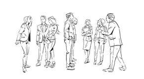 Ludzie biznesu komunikacyjni podczas spotkania, zgoda przed biznesmen dyskusi kolegów komunikować ilustracja wektor