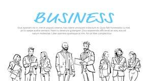 Ludzie biznesu komunikacyjnych chwyt falcówek podczas spotkania, zgoda przed biznesmen dyskusi kolegami royalty ilustracja