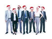 Ludzie Biznesu Korporacyjnego świętowań bożych narodzeń pojęcia obraz stock