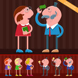 ludzie biznesu kreskówek Obraz Royalty Free