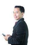 ludzie biznesu mobile urządzenia Zdjęcie Stock