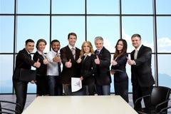 Ludzie biznesu na tle niebo Obraz Stock