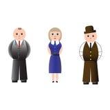 Ludzie biznesu odizolowywający na białym tle royalty ilustracja