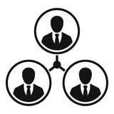 Ludzie biznesu powiązanie ikony, prosty styl ilustracja wektor