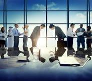 Ludzie Biznesu powitanie Globalnego biznesu dyskusi pojęcia Obrazy Stock