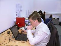 Ludzie biznesu pracuje w offece Zdjęcie Royalty Free