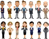 Ludzie biznesu różnorodni wieki i rasy ilustracji
