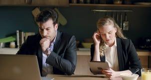 Ludzie biznesu ranek kawy zdjęcie wideo