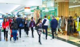 Ludzie biznesu rusza się plamę godzina ludzie pośpiechu odprowadzenia Biznesu i nowoczesnego życia pojęcie Zdjęcie Stock