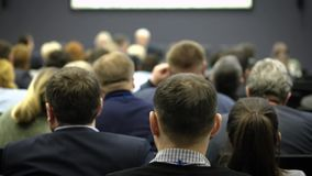 Ludzie Biznesu Seminaryjnego Konferencyjnego spotkania Biurowego Stażowego pojęcia zdjęcie wideo