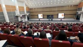 Ludzie Biznesu Seminaryjnego Konferencyjnego spotkania Biurowego Stażowego pojęcia Osoba na forum rozwiązywać ekonomicznych zagad zdjęcie wideo