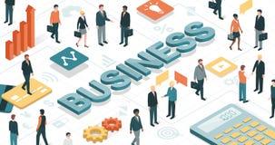 Ludzie biznesu społeczności ilustracji