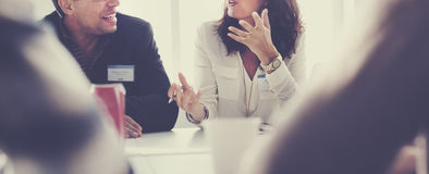 Ludzie Biznesu Spotyka Konferencyjnej dyskusi Pracującego pojęcie fotografia stock