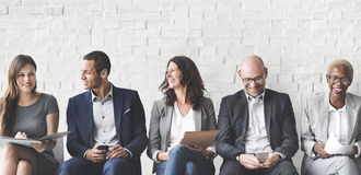 Ludzie Biznesu Spotyka Korporacyjnego Cyfrowego przyrządu związek Conc zdjęcie stock