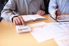Ludzie Biznesu Spotyka projektów pomysłów fachowego inwestora worek Zdjęcie Stock