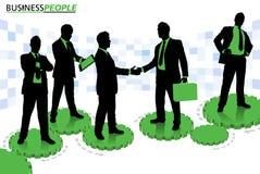 Ludzie Biznesu stoi na Cogs i przekładniach ilustracji