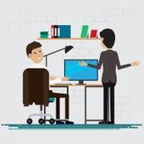 Ludzie Biznesu szczęśliwi w pokoju przy biurem Zdjęcie Stock